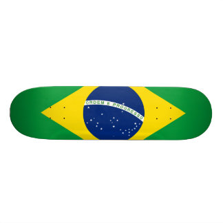 Brazil Flag 18.1 Cm Old School Skateboard Deck