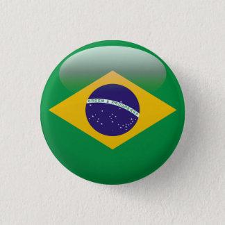 Brazil Flag 3 Cm Round Badge