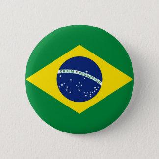 Brazil Flag 6 Cm Round Badge