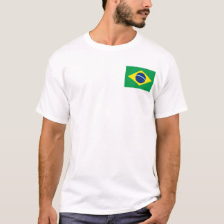Brazil Flag and Map T-Shirt