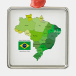 Brazil Flag and Political Map