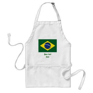 Brazil flag adult apron