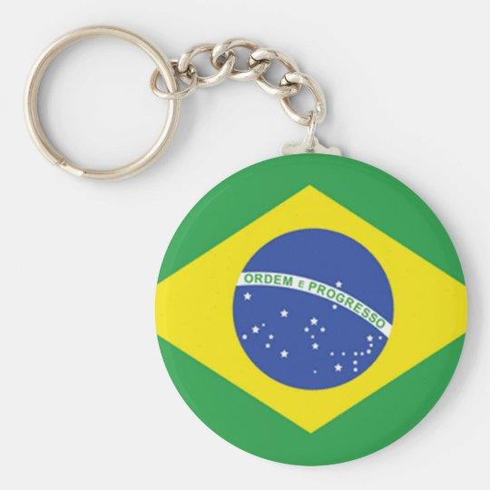 Brazil Flag Basic Round Button Key Ring