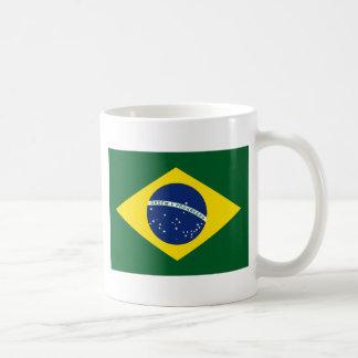 Brazil flag basic white mug