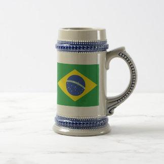 Brazil Flag Beer Stein