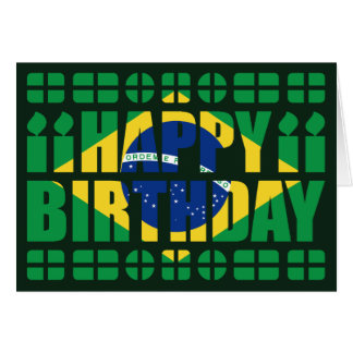 Brazil Flag Birthday Card