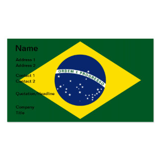 Brazil flag business cards