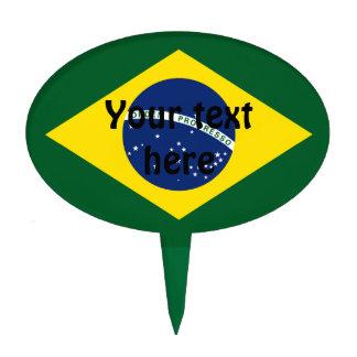 Brazil flag cake picks