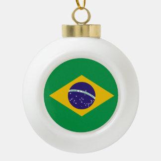 Brazil flag ceramic ball decoration