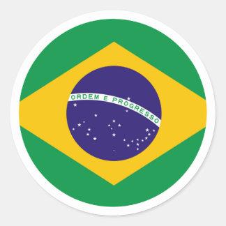 Brazil Flag Circle jGibney The MUSEUM Zazzle Gifts Round Sticker