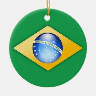 Brazil Flag Circle Ornament
