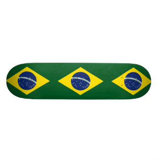 Brazil flag custom skate board