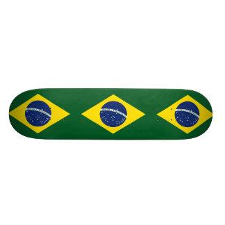 Brazil flag custom skate board