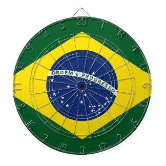 Brazil flag dartboards