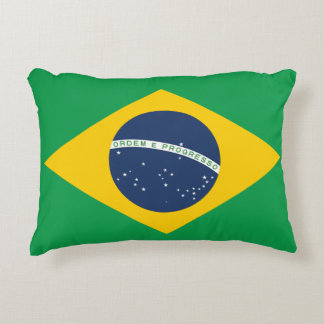 Brazil Flag Decorative Cushion