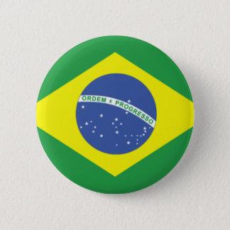 Brazil Flag Design 6 Cm Round Badge
