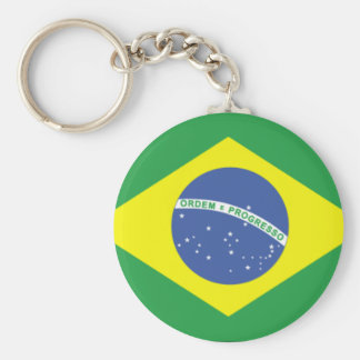 Brazil Flag Design Key Ring