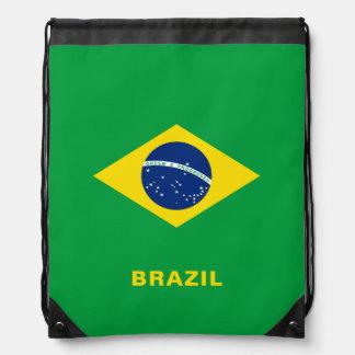 Brazil Flag Drawstring Backpack