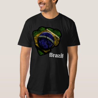 brazil flag fist tshirts