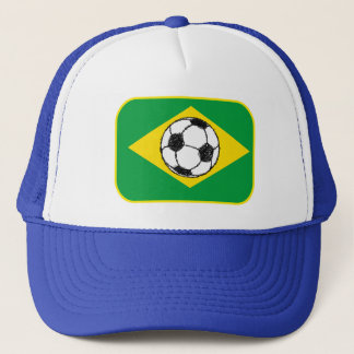 Brazil Flag | Football Sketch Trucker Hat