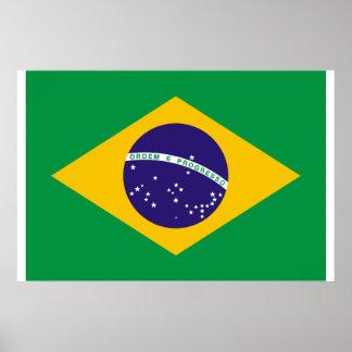 Brazil Flag Framed Photo Print