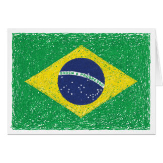 Brazil Flag *Hand-sketch* Brazilian Card