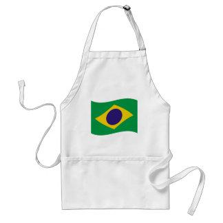 brazil flag icon standard apron