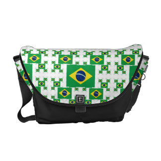 Brazil Flag in Multiple Colorful Layers 2 Messenger Bag