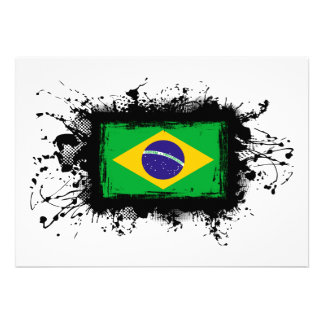 Brazil Flag Personalized Announcement