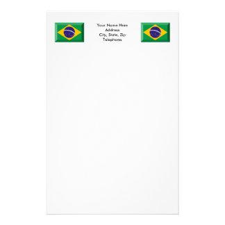 Brazil Flag Jewel Stationery