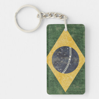 Brazil Flag Key Chain Souvenir