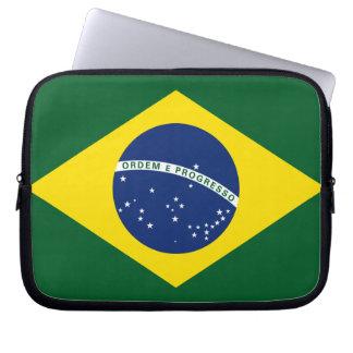 Brazil flag laptop sleeves