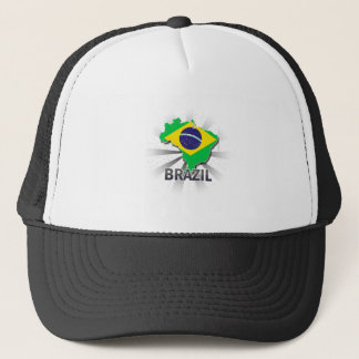 Brazil Flag Map 2.0 Trucker Hat