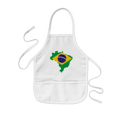 brazil flag map apron