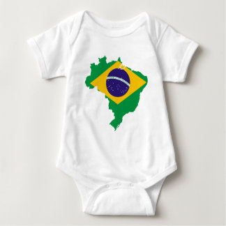 brazil flag map baby bodysuit