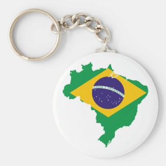 brazil flag map key ring