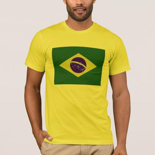 Brazil Flag Men Yellow T-Shirt