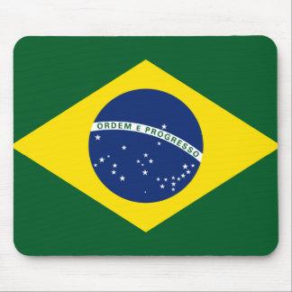 Brazil flag mouse pad