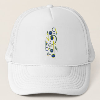 Brazil Flag Music Notes Trucker Hat
