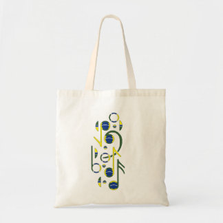 Brazil Flag Musical  Tote Bag