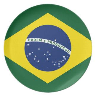 Brazil flag party plates