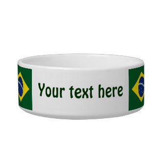 Brazil flag pet water bowl