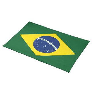 Brazil flag place mats
