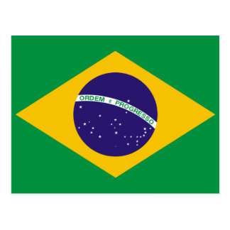 Brazil flag postcard