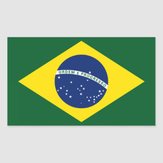 Brazil flag rectangle stickers