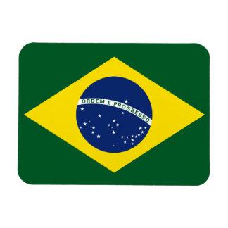 Brazil flag rectangular photo magnet