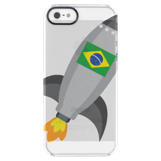 Brazil Flag Rocket Clear iPhone SE/5/5s Case