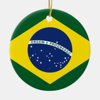 Brazil flag round ceramic decoration