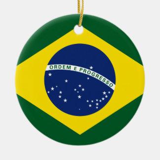 Brazil flag round ceramic decoration