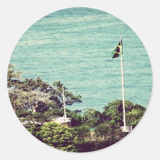 Brazil Flag Round Sticker
